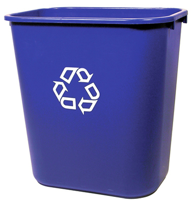28Qt Blu Recycled Waste