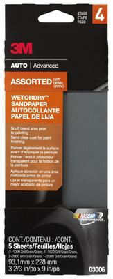 5Pc 3-2/3X9 Sandpaper