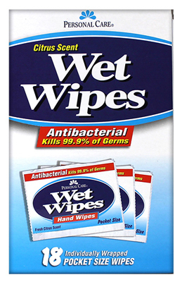 18CT Citrus Wet Wipes 92131-24