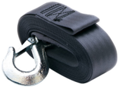 """2""""x20' Winch Strap With Hook"""