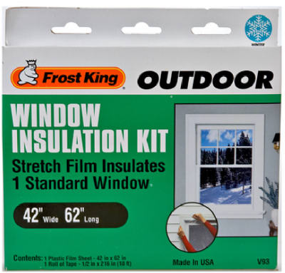 Cornell 39 s true value hardware 42x62 window insulation kit for Window insulation values