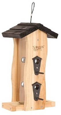 Cedar Wave Bird Feeder