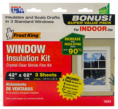 Cornell 39 s true value hardware window insulation kit for Window insulation values