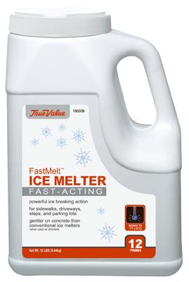 ICE MELT, FAST MELT 12LB SHAKER