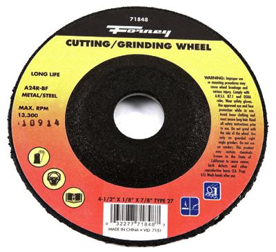 Grind Wheel 4.5x1//4x7//8 Ali Industries Inc