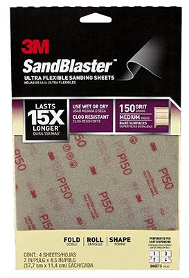 3M FLEXIBLE 4PK 150G Sandpaper