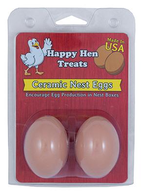 Ceramic Nest Eggs, Brown, 2 pk