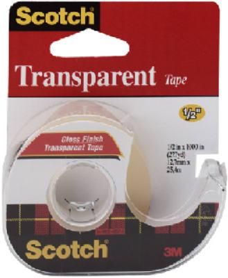 "Transparent Tape, 1/2"" x 1000"""