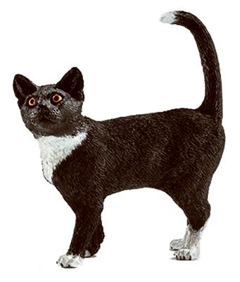 Schleich Black/Wht Standing Cat