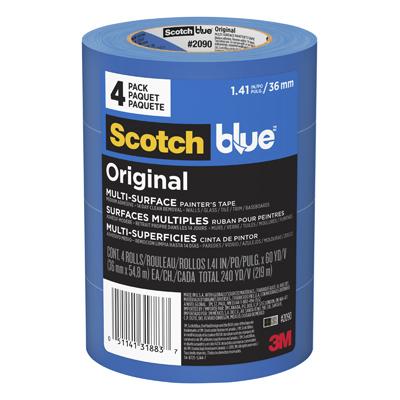 "1.41"" x 60 BLUE TAPE 4 PK"