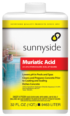 Muriatic acid for Hydrochloric acid for cleaning concrete