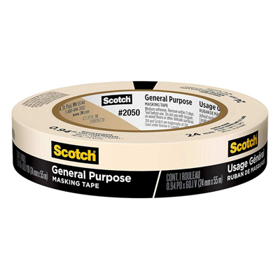 """Masking Tape, General Purpose, .94"""" x 60 yd."""