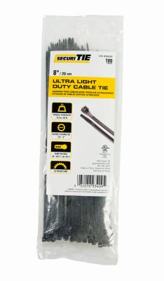 GB SecuriTie CT8-18100UVB Cable Tie, Nylon, UV Black