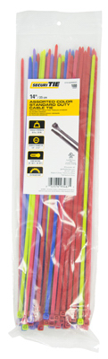 GB SecuriTie CT14-50100ASST Cable Tie, Nylon, Assorted