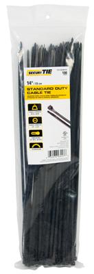 GB SecuriTie CT14-50100UVB Cable Tie, Nylon, UV Black