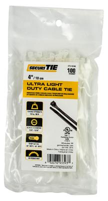 GB SecuriTie CT4-18100 Cable Tie, Nylon, Natural