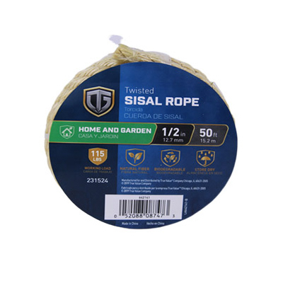 Round's True Value Merchandise - TG 1/2x50 NAT Sisal Rope