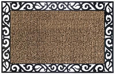 GRASSWORX Clean Machine 10374069 Door Mat, 36 in L, 24 in W, Leaves, Stems