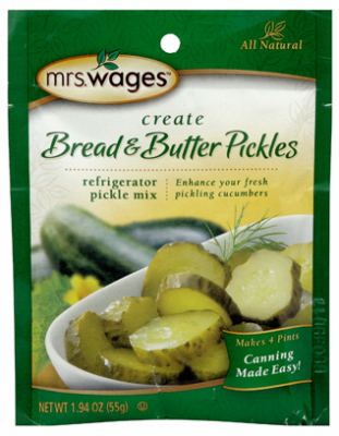 Mrs. Wages W625-DG425 Bread and Butter Pickle Mix, 1.94 oz Pouch