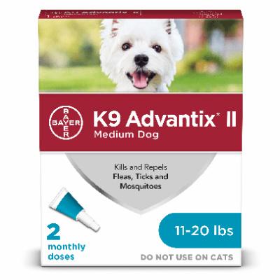 Advantix Medium Dog 11-20lb 2pk
