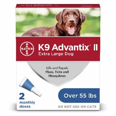 Advantix Extra Large Dog 55lb and Over 2pk