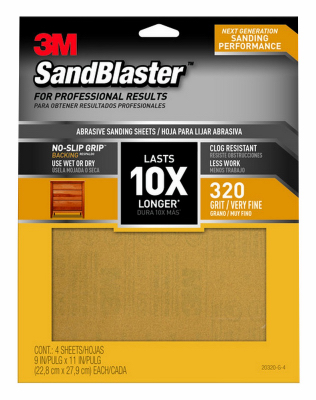 4PK 9x11 320G Sandpaper