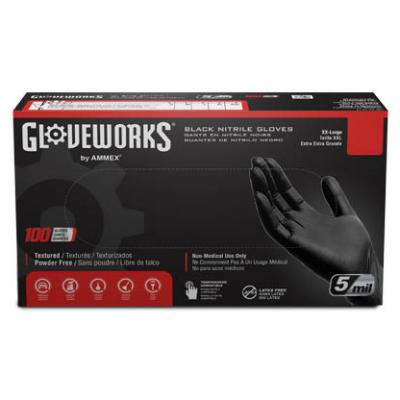 100CT LG BLK Nitrile Glove