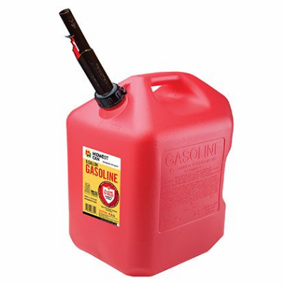 6 Gallon Red Poly Gas Can