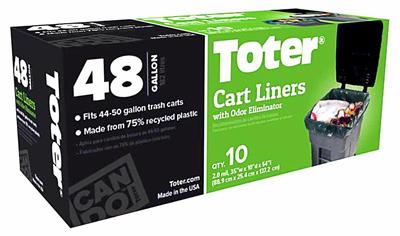 10Ct 48GAL Cart Liner
