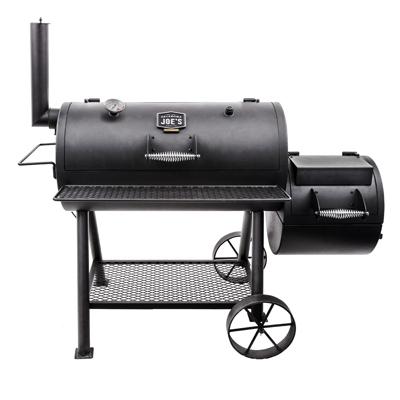 Oklahoma Joe's Highland 15202031 Offset Smoker, Charcoal, Porcelain, Black