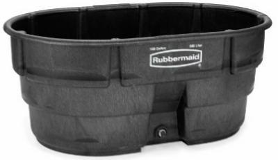 Rubbermaid 150gal Blk Stock Tank