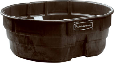 Rubbermaid 300gal Blk Stock Tank