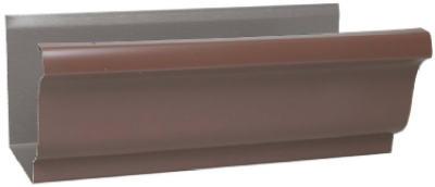 5x10 Brown Aluminum Gutter