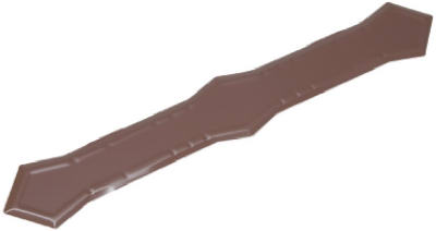 """3"""" Downspout Band Brown Aluminum"""