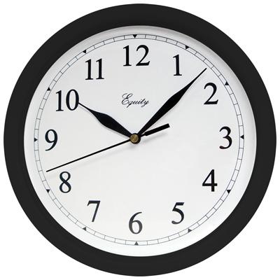 "10"" Blk Wall Clock"