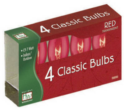 4PK C9 Red Replacement Bulb