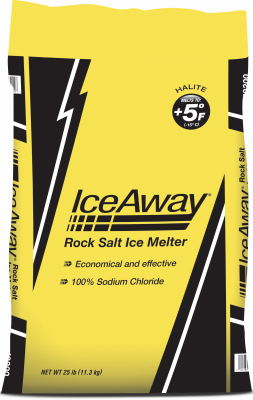 ICE MELT, SODIUM CHLORIDE 25LB
