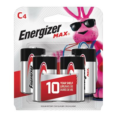 Energizer MAX 4PK C Alk Battery