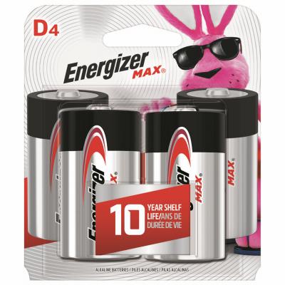 Energizer MAX 4PK D Alk Battery