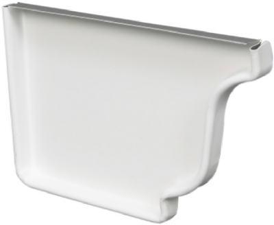 """5"""" Left End Cap White Aluminum"""
