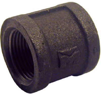 "1"" Black Iron Right Hand Coupling"