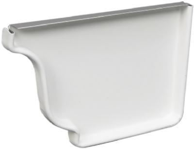 """5"""" Right End Cap White Aluminum"""