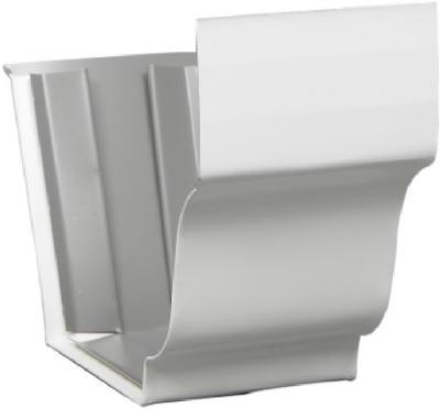 """5"""" Slip Connector White Aluminum"""