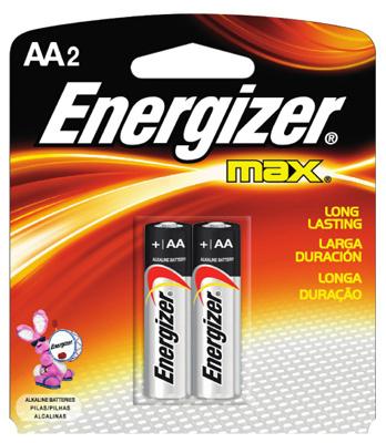 MAX 2PK AA Alkaline Battery