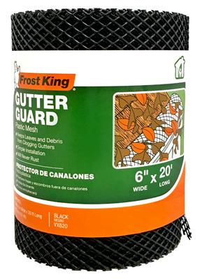 "6""x20' Plastic Gutter Guard"