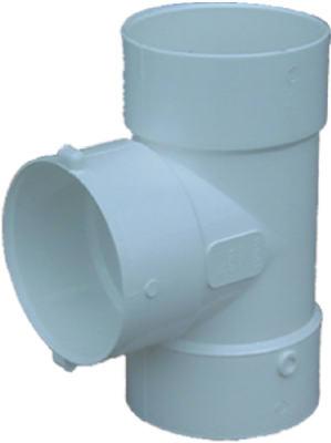 """3"""" Bull Nose Tee drain pipe"""