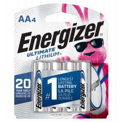 Energizer 4PK AA Lithium Battery