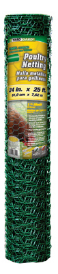 """24""""x25' 1"""" Green Poultry Netting"""