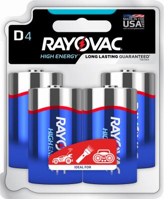Rayovac 4PK D Alkaline Battery