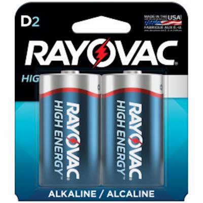 Rayovac 2PK D Alkaline Battery
